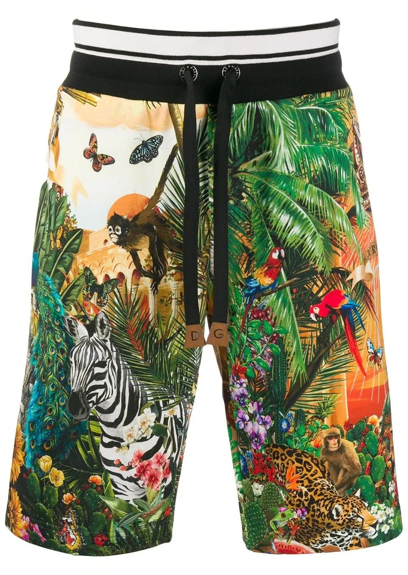 Dolce & Gabbana jungle print shorts