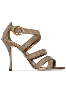 Dolce & Gabbana Keira 105mm glitter-effect sandals