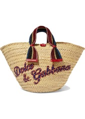 Dolce & Gabbana Kendra Lurex-trimmed Embellished Straw Tote