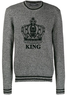 Dolce & Gabbana King crew neck sweater