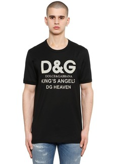 Dolce & Gabbana King's Angels Logo Print Cotton T-shirt