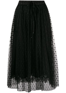 Dolce & Gabbana point d'esprit midi skirt