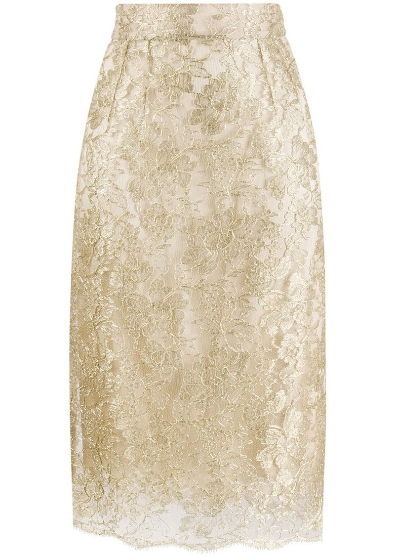 Dolce & Gabbana lace brocade skirt