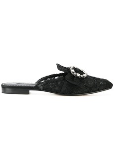Dolce & Gabbana lace buckle slippers
