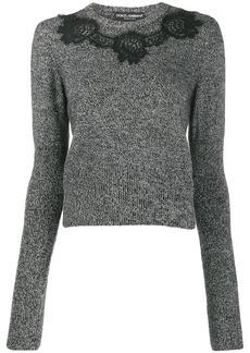 Dolce & Gabbana lace-detail jumper