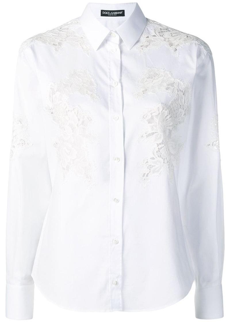 Dolce & Gabbana lace inserts shirt