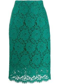 Dolce & Gabbana lace midi skirt