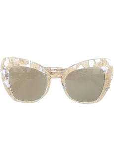 Dolce & Gabbana lace oversized cat-eye sunglasses
