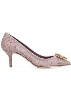 Dolce & Gabbana lace paneled pumps