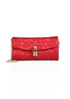 Dolce & Gabbana Lace Pouchette Chain Clutch