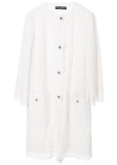 Dolce & Gabbana lace single-breasted coat