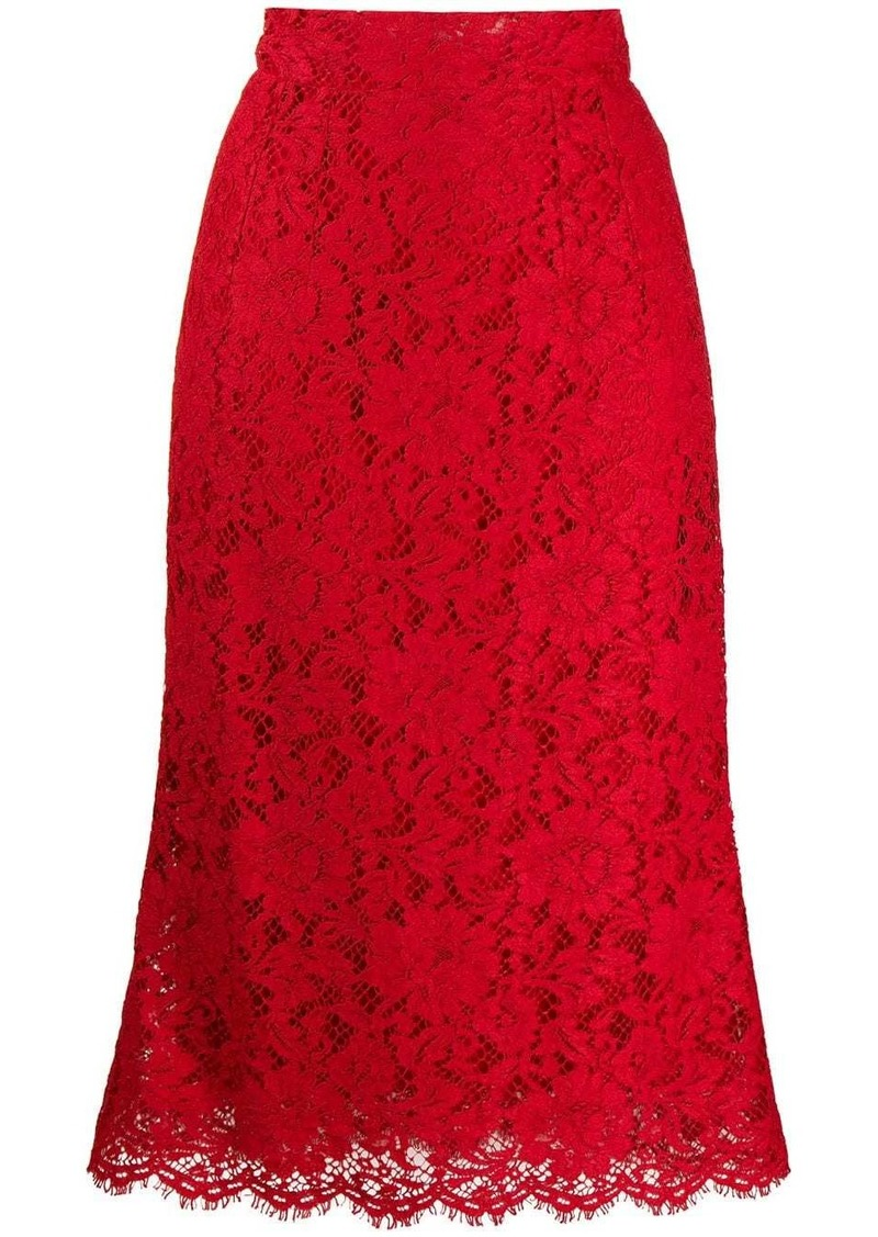 Dolce & Gabbana lace straight fit skirt