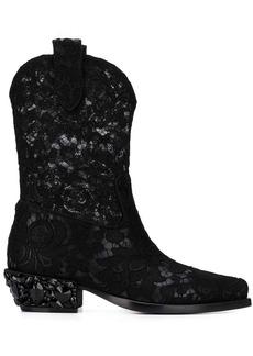 Dolce & Gabbana lace Texan boots