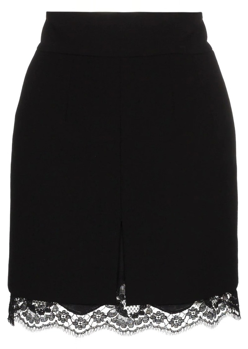 Dolce & Gabbana lace trim skirt