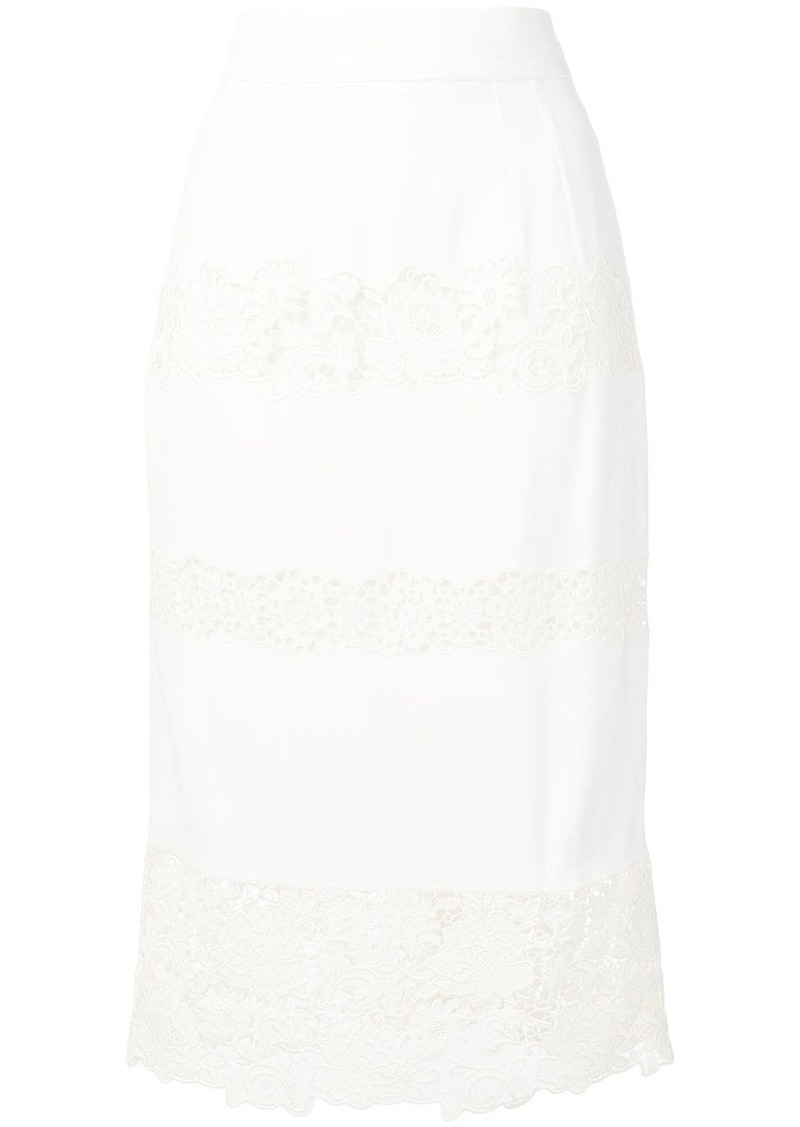 Dolce & Gabbana lace-trimmed skirt