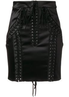 Dolce & Gabbana lace-up high-waisted skirt