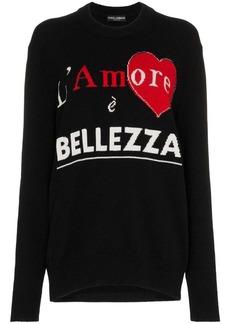 Dolce & Gabbana 'l'amore è Bellezza' Cashmere Sweater