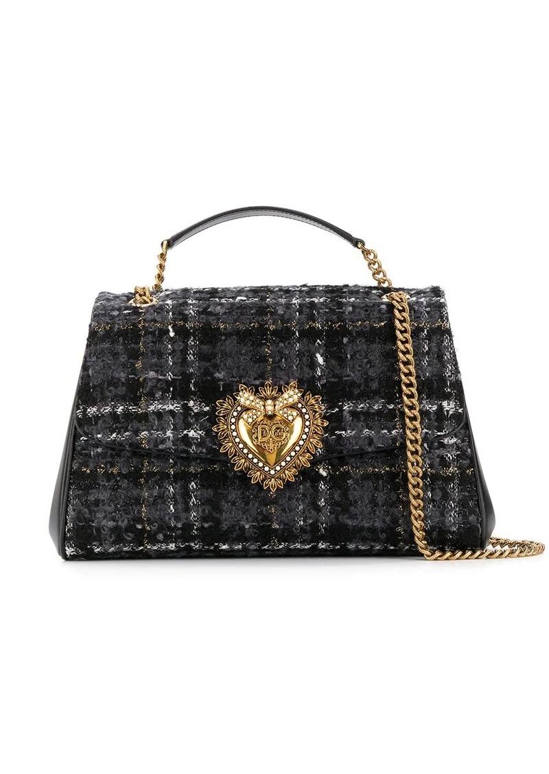 Dolce & Gabbana large Devotion tweed shoulder bag