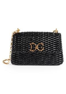 Dolce & Gabbana Large Wicker Shoulder Bag