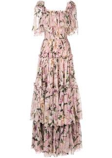 Dolce & Gabbana layered lilies dress