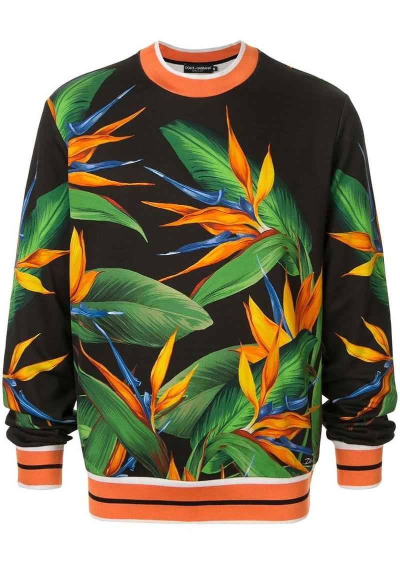 Dolce & Gabbana leaf print sweatshirt