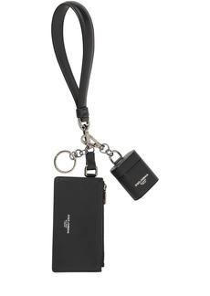 Dolce & Gabbana Leather Air Pod Case & Pouch