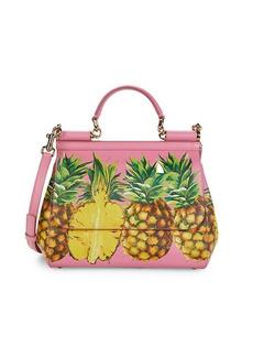 Dolce & Gabbana Leather Pineapple Satchel