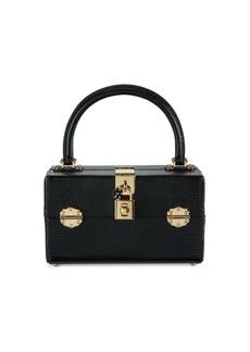 Dolce & Gabbana Leather Top Handle Box Bag