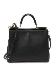 Dolce & Gabbana Leather Top Handle Satchel