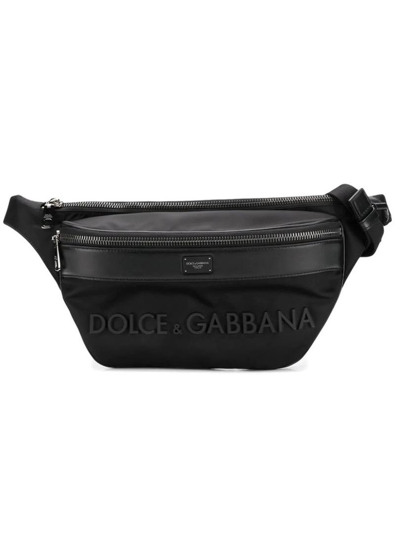 Dolce & Gabbana leather trim sling bag