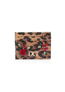 Dolce & Gabbana Leo Floral Card Case
