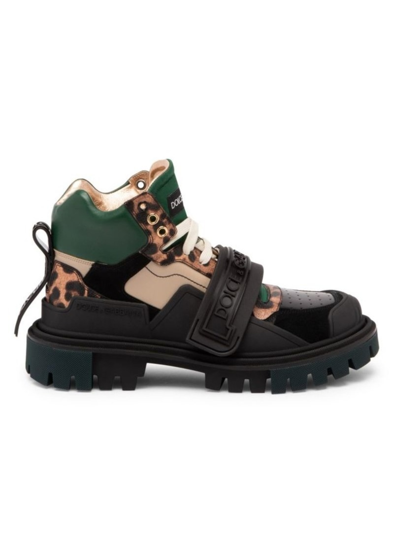 Dolce & Gabbana Leo Mixed Media Hiking Boots