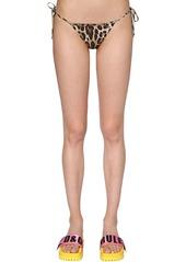 Dolce & Gabbana Leopard Jersey Bikini Bottom