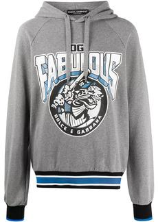 Dolce & Gabbana leopard logo print hoodie