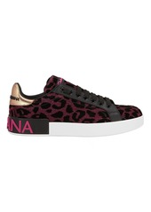 Dolce & Gabbana Leopard Low-Top Sneakers