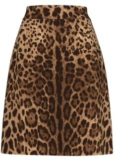 Dolce & Gabbana leopard-print A-line skirt