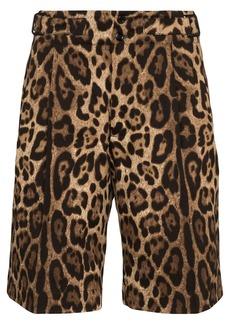 Dolce & Gabbana leopard-print bermuda shorts