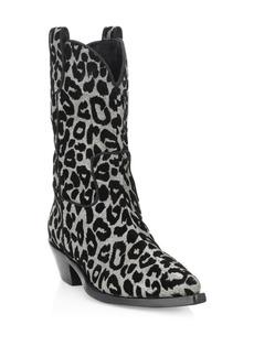 Dolce & Gabbana Leopard-Print Cowboy Boots