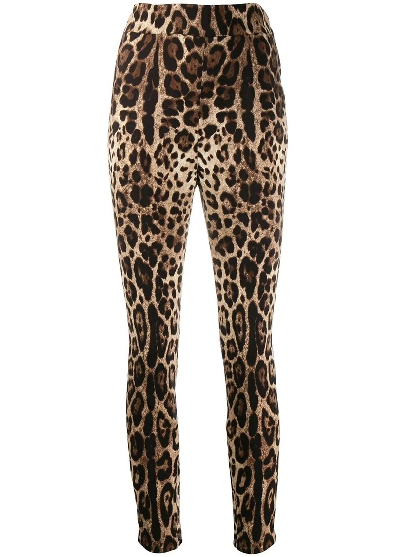 Dolce & Gabbana leopard print cropped trousers