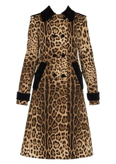 Dolce & Gabbana Leopard-Print Double-Breasted Coat