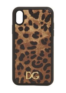 Dolce & Gabbana Leopard Print Leather Iphone X/xs Case