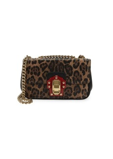 Dolce & Gabbana Leopard-Print Leather Shoulder Bag