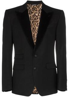 Dolce & Gabbana leopard print lined blazer