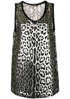 Dolce & Gabbana leopard print lurex top