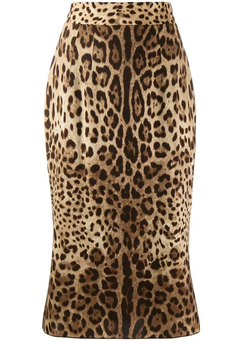 Dolce & Gabbana leopard-print skirt