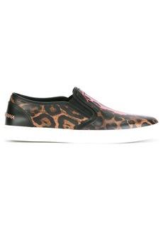 Dolce & Gabbana leopard print slip-on sneakers