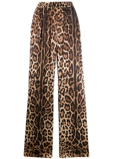 Dolce & Gabbana leopard-print straight trousers