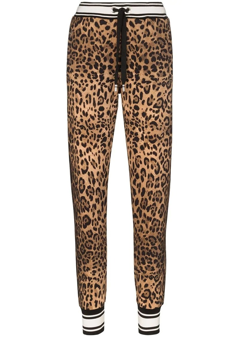 Dolce & Gabbana leopard print sweatpants