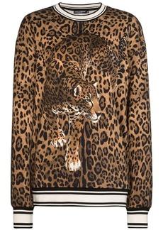 Dolce & Gabbana leopard print sweatshirt
