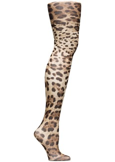 Dolce & Gabbana leopard-print tights